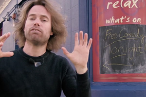 Pledge to Angel Comedy's Kickstarter and re-name the MC