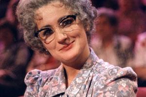 The Mrs Merton Show. Mrs Merton (Caroline Aherne). Copyright: Granada Productions.