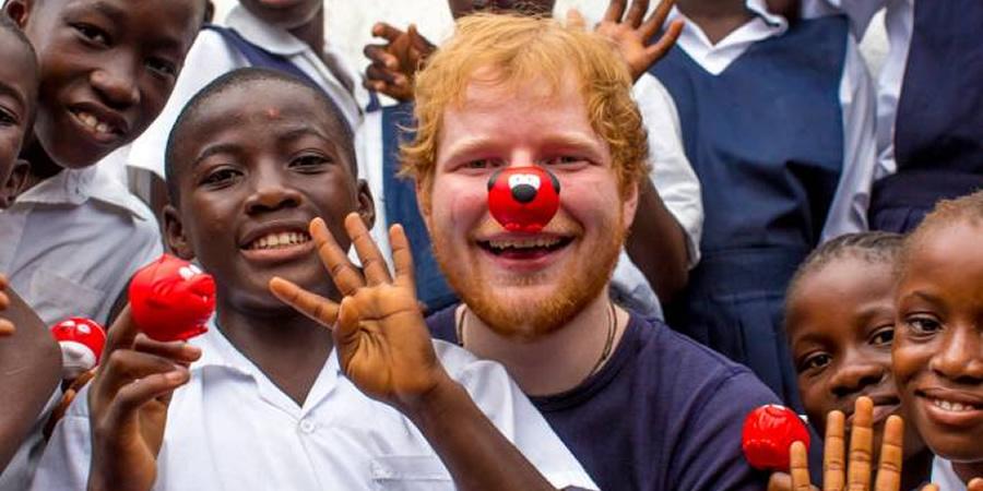 Ed Sheeran. Copyright: Comic Relief.