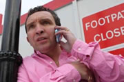A Running Jump. Perry (Eddie Marsan). Copyright: Film4 / BBC Films.