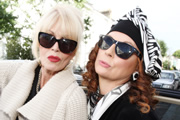 Absolutely Fabulous. Image shows from L to R: Patsy (Joanna Lumley), Edina (Jennifer Saunders). Copyright: Saunders And French Productions / BBC.