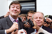 Absolute Power. Image shows from L to R: Charles Prentiss (Stephen Fry), Martin McCabe (John Bird). Copyright: BBC.