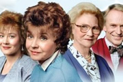 After Henry. Image shows from L to R: Clare France (Janine Wood), Sarah France (Prunella Scales), Eleanor Prescott (Joan Sanderson), Russell Bryant (Jonathan Newth). Image credit: Thames Television.