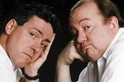 Alas Smith & Jones. Image shows from L to R: Griff Rhys Jones, Mel Smith. Copyright: BBC.