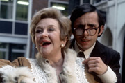 Alcock And Gander. Image shows from L to R: Mrs. Marigold Alcock (Beryl Reid), Richard Gander (Richard O'Sullivan). Image credit: Thames Television.