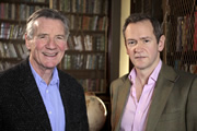 Alexander Armstrong's Real Ripping Yarns. Image shows from L to R: Michael Palin, Alexander Armstrong. Copyright: BBC.