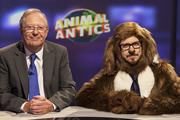 Animal Antics. Image shows from L to R: Tim Brooke-Taylor, Sparky (Matthew Crosby). Copyright: Talkback.