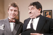 Another Fine Mess. Image shows from L to R: Sydney Jefferson (Roy Castle), Harry Norvel (Ronnie Barker). Copyright: BBC.