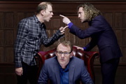 Argumental. Image shows from L to R: Robert Webb, Sean Lock, Seann Walsh. Image credit: Tiger Aspect Productions.