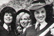 Backs To The Land. Image shows from L to R: Jenny Dabb (Terese Stevens), Bunny Burroughs (Pippa Page), Shirley Bloom (Philippa Howell). Image credit: Anglia TV.