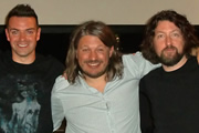Bad Language. Image shows from L to R: Des Clarke, Richard Herring, Keith Farnan. Copyright: BBC.