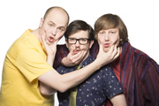 Badults. Image shows from L to R: Tom (Tom Parry), Matthew (Matthew Crosby), Ben (Ben Clark). Image credit: The Comedy Unit.