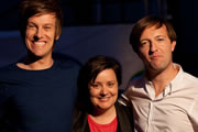 BBC Three Comedy Marathon. Image shows from L to R: Chris Ramsey, Susan Calman, Andrew Maxwell.