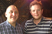 Image shows from L to R: Dave Cohen, Miles Jupp.