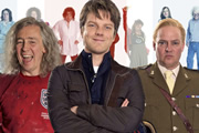 Bellamy's People. Image shows from L to R: Paul Whitehouse, Gary Bellamy (Rhys Thomas), Charlie Higson. Image credit: British Broadcasting Corporation.