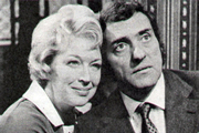 The Best Things In Life. Image shows from L to R: Mabel Pollard (June Whitfield), Alfred Wilcox (Harry H. Corbett). Copyright: Associated Television.