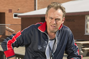 Big School. Mr Gunn (Philip Glenister). Copyright: BBC / King Bert Productions.