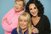 Birds Of A Feather. Image shows from L to R: Sharon Theodopolopodous (Pauline Quirke), Tracey Stubbs (Linda Robson), Dorien Green (Lesley Joseph). Copyright: Alomo Productions / Retort.