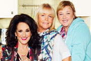Birds Of A Feather. Image shows from L to R: Dorien Green (Lesley Joseph), Tracey Stubbs (Linda Robson), Sharon Theodopolopodous (Pauline Quirke). Copyright: Alomo Productions / Retort.