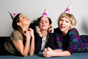 Birthday Girls. Image shows from L to R: Camille Ucan, Rose Johnson, Beattie Edmondson.