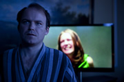 Black Mirror. Image shows from L to R: Michael Callow (Rory Kinnear), Princess Susannah (Lydia Wilson). Copyright: Zeppotron.