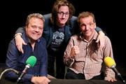 Britain Versus The World. Image shows from L to R: Hal Cruttenden, Ed Byrne, Henning Wehn. Copyright: John Stanley Productions.