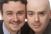 Burnistoun. Image shows from L to R: Iain Connell, Robert Florence. Copyright: The Comedy Unit.