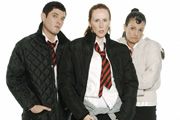 The Catherine Tate Show. Image shows from L to R: Mathew Horne, Catherine Tate, Niky Wardley. Image credit: Tiger Aspect Productions.