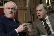 Cheers. Image shows from L to R: Charles (Charles Gray), Peter (Freddie Jones). Copyright: Yorkshire Television.