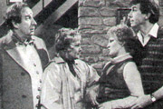 Chintz. Image shows from L to R: Fred Nelson (Christopher Benjamin), Dottie Nelson (Dilys Laye), Kate Carter (Michele Dotrice), Richard Carter (Richard Easton). Copyright: Granada Television.