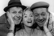 Citizen James. Image shows from L to R: Bill (Bill Kerr), Liz (Liz Fraser), Sid (Sidney James). Copyright: BBC.