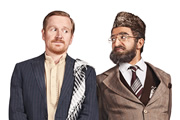 Citizen Khan. Image shows from L to R: Dave (Matthew Cottle), Mr Khan (Adil Ray). Copyright: BBC.
