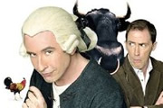 A Cock And Bull Story. Image shows from L to R: Steve Coogan - Tristram Shandy & Walter Shandy (Steve Coogan), Rob Brydon - Toby Shandy (Rob Brydon). Copyright: Revolution Films / BBC Films.