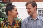 Conlang Of Love. Image shows from L to R: Frances (Oona Chaplin), Gethin (Paul Heath). Copyright: BBC.
