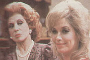 Constant Hot Water. Image shows from L to R: Phyllis Nugent (Patricia Phoenix), Miranda Thorpe (Prunella Gee). Image credit: Central Independent Television.