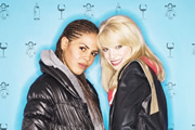 Dappers. Image shows from L to R: Ashley (Lenora Crichlow), Faye (Ty Glaser). Copyright: Mammoth Screen.