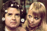 Dear Mother.... ....Love Albert. Image shows from L to R: Albert Courtnay (Rodney Bewes), Doreen Bissel (Cheryl Hall). Image credit: Thames Television.