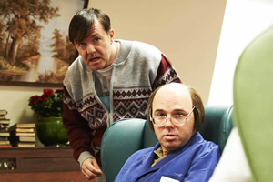 Derek. Image shows from L to R: Derek (Ricky Gervais), Dougie (Karl Pilkington). Copyright: Derek Productions.