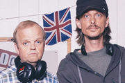 Detectorists. Image shows from L to R: Lance Stater (Toby Jones), Andy Stone (Mackenzie Crook). Copyright: Channel X / Lola Entertainment.