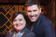 Don't Drop The Baton. Image shows from L to R: Susan Calman, Mark Nelson. Copyright: BBC.