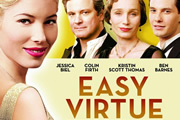 Easy Virtue. Image shows from L to R: Larita Whittaker (Jessica Biel), Mr. Whittaker (Colin Firth), Mrs. Whittaker (Kristin Scott Thomas), John Whittaker (Ben Barnes). Copyright: Ealing Studios / Pathe.