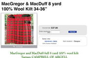 Is a Scottish kilt a skirt? An eBay argument