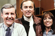 Ever Decreasing Circles. Image shows from L to R: Martin Bryce (Richard Briers), Paul Ryman (Peter Egan), Ann Bryce (Penelope Wilton). Image credit: British Broadcasting Corporation.