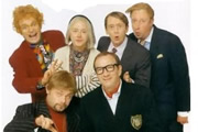 The Fast Show. Image shows from L to R: Charlie Higson, John Thomson, Arabella Weir, Simon Day, Paul Whitehouse, Mark Williams. Copyright: BBC.