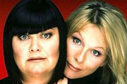 Image shows from L to R: Dawn French, Jennifer Saunders.