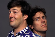 A Bit Of Fry And Laurie. Image shows from L to R: Stephen Fry, Hugh Laurie. Copyright: BBC.