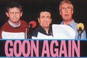 Goon Again. Image shows from L to R: Spike Milligan's roles (Jon Glover), Son of Ned Seagoon (Andrew Secombe), Peter Sellers's roles (Jeffrey Holland). Copyright: Celador Productions.