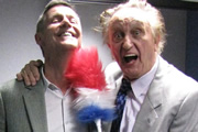 Great Lives - Stan Laurel. Image shows from L to R: Matthew Parris, Ken Dodd. Copyright: BBC.