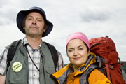 The Great Outdoors. Image shows from L to R: Bob (Mark Heap), Christine (Ruth Jones). Copyright: BBC / Tidy Productions.