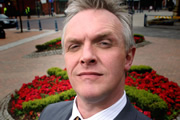 We Are Klang. Council-Leader Greg (Greg Davies). Copyright: BBC.